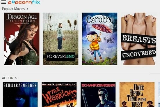streaming movies on popcornflix