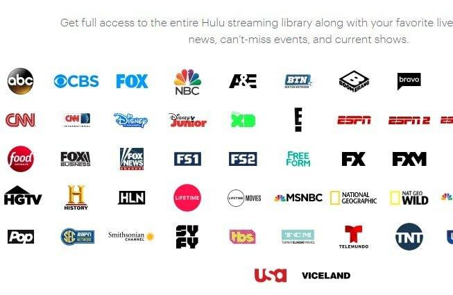 watch live TV on Hulu