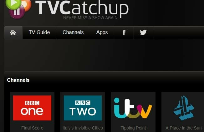 TV catchup website