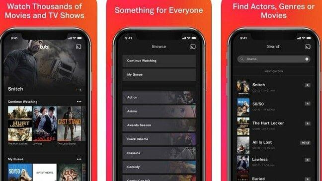 tubi app for iOS