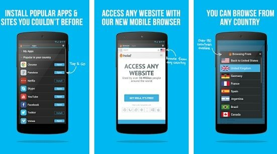 Hola Unlimited proxy app