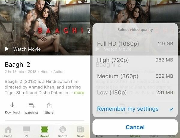 Hotstar Movies Download From App