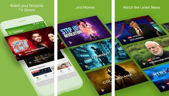 Hotstar Android movie app