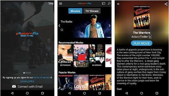 popcornflix app screenshot