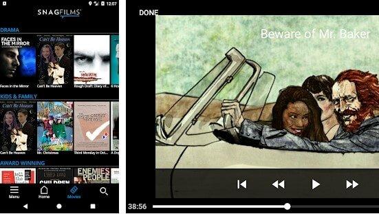 snagfilms app screenshot