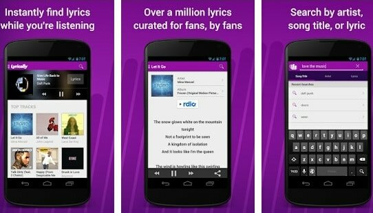 lyrically music app