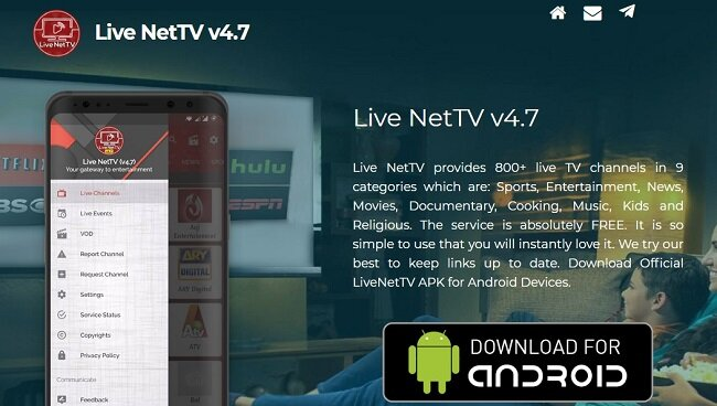live free tv apps android