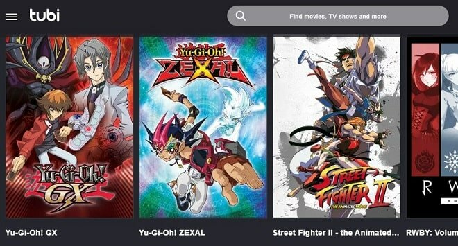 anime on TubiTV