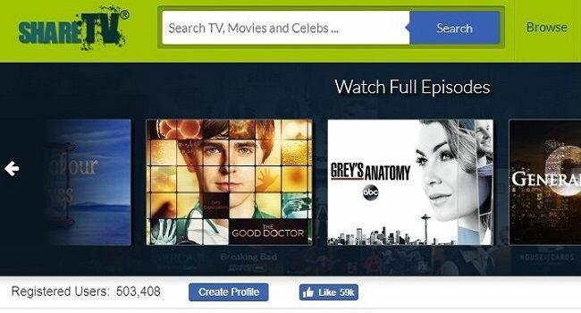 shareTV for movies